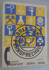 Branchen -Fernsprechbuch Bezirk Erfurt Gera Suhl Deutschen Post 1980