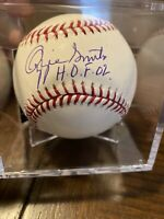 "OZZIE SMITH AUTOGRAPHED SIGNED MLB BASEBALL CARDINALS ""HOF 02"" TRISTAR 8108087"