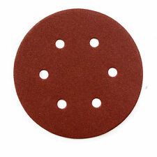 Powertec 45218 A/O Hook and Loop 6 Hole Disc, 6-Inch, 180 Grit, 25 Pk