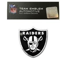 NFL Oakland Raiders Aluminum Auto Emblem Decal Size Aprx. 3 x 3 1/4 inches