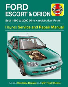 Ford Escort & Orion Petrol (Sept 90 - 00) Haynes Repair Manual