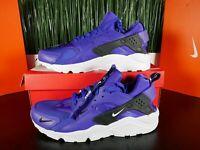 Nike Air Huarache Run Premium Zip Indigo Purple/White BQ6164-400 Multi Size