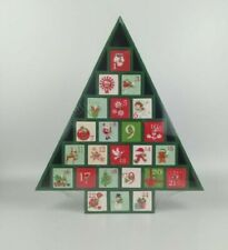 Tree Shaped Wooden Advent Calendar, Green, Timeless, Customisation #NG