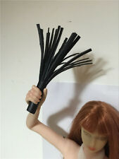 """Custom DIY 1/6th SM Black Leather Whip For 12"""" Phicen Toy Male & Female Figure"""
