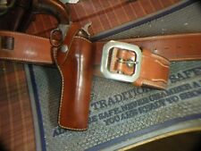 Bianchi western style holster and cartridge belt, 44/45 call, Colt saa