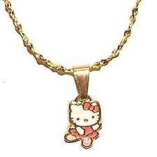 Pendentif Bijoux Enfant Hello Kitty Ballerine Rose - Ton Or