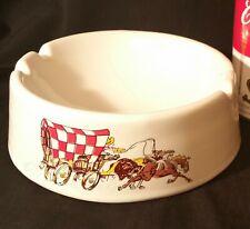 1973 PURINA dog chow dog dish vtg ceramic ashtray mcm cowboy western chuckwagon