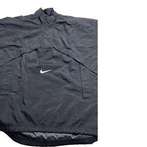 90s RARE Retro Nike Vintage Windbreaker Jacket Black Size 8-10 M Unisex
