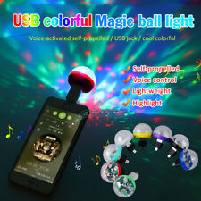 Mini USB RGB LED Disco Stage Lighting Ball DJ Crystal Magic Light Car Home Party