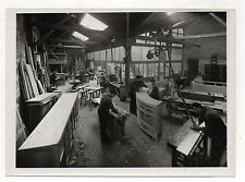 PHOTO Atelier d'ébénisterie Ébéniste Menuisier Bois Meuble Fabrication Vers 1950