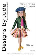 "Fashion Forward Doll Clothes SewingPattern for 14.5"" Flexi Pose Dolls Tonner"