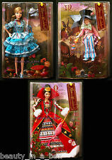 "Alice in Wonderland Queen Of Hearts Mad Hatter Barbie Doll Silver Label "" Lot 3"