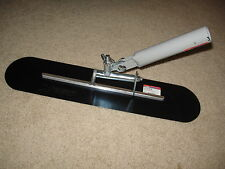"22"" x 5"" Blue Steel Funny (Walking) Trowel - Concrete Tool Made in the USA"