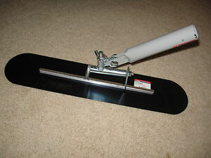 """22"""" x 5"""" Blue Steel Funny (Walking) Trowel - Concrete Tool Made in the USA"""