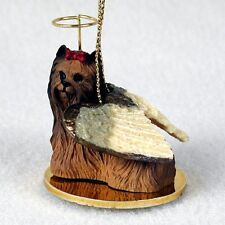 YORKIE Yorkshire Terrier Dog ANGEL Tiny One Ornament Figurine Statue