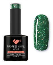 862 VB™ Line Green Silver Glitter - UV/LED soak off gel nail polish