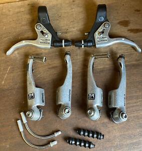 Shimano Deore BL-M600 brake and BR-M600 V-Brakes Caliper Set Retro Bike Bicycle