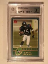 2003 Topps #380 Andre Johnson Houston Texans RC Rookie BGS 9 MINT