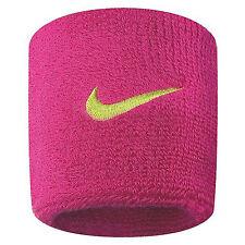 Nike Damen Schweißband Swoosh Wristbands Vivid Pink