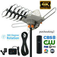 990+Miles 1080P Outdoor Amplified HDTV Digital TV Antenna Long Range HD VHF/UHF