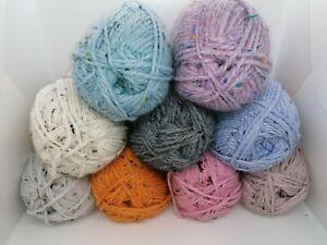 Woolcraft Shetland Tweed Chunky Yarn 77% Acrylic, 20% Wool, 3% Viscose