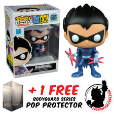 FUNKO POP TEEN TITANS GO ROBIN AS RED X UNMASKED EXCLUSIVE + FREE POP PROTECTOR