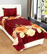 Homefab India 3D Printed PolyCotton Single Bed-Sheet (Single199)
