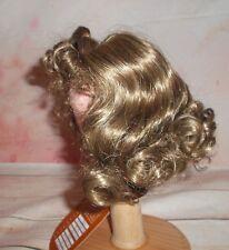 Vintage boxed Monique Doll Wig sz 12-13 Golden brown top pony & curls Elizabeth