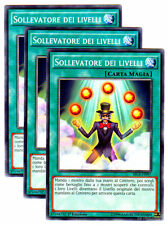 Set 3X SOLLEVATORE DEI LIVELLI Level Lifter SECE-IT097 Comune in Italiano YUGIOH