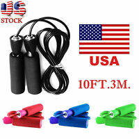 Counting Skipping Jump Rope Gym Aerobic Exercise Boxing Bearing Speed Fitness US