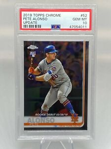 2019 Topps Chrome Update Pete Alonso Rookie Card PSA 10 Gem Mint! Mets' ROY!