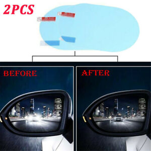 2PCS Car Anti Fog Anti-glare Rainproof Rearview Mirror Trim Film Cover Sticker