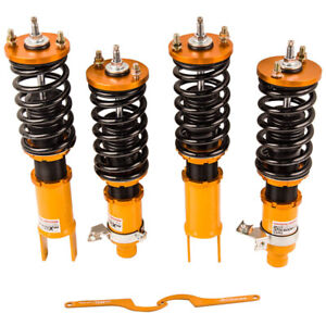 HEIGHT ADJUSTABLE COILOVERS FOR HONDA CIVIC 1996-2000 PILLOW MOUNT LOWER SPRINGS