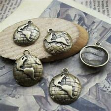 30pcs Antique Bronze Earth Charm World Map 15mm Jewelry Fashion Pendants P637