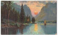 Italy; Tyrol, Sunset Over The Toblacher Lake PPC, Unposted, c 1900 - 1905, UB