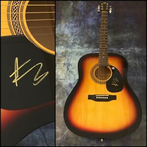 """GFA Drunk Me MITCHELL TENPENNY Signed 41"""" Full Size Acoustic Guitar COA"""