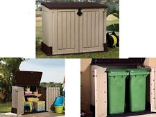 New listing Outdoor Plastic 4x2.5 Ft Storage Shed Horizontal Garden Garage Tool Utility Box