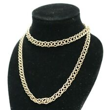 """.375 Italy YELLOW GOLD Ladies Necklace 36"""" 6.3g - 232"""