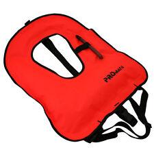 NEW Promate SNORKEL VEST Adult Medium 80 - 150 lbs Orange Snorkeling Jacket