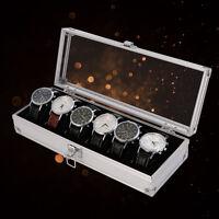 6 Grid Watch Box Insert Slots Jewelry Watches Jewelry Display Storage Box Case