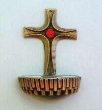 Bronze Deko Weihwasserkessel Weihbecken Weihwasser Taufe Kommunion Firmung
