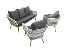 Memphis Gartensofa Lounge 3 - er Sofa + 2 x 1-er Sofa aus Aluminium Gartenmöbel