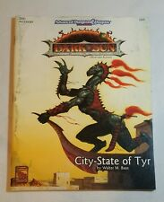 AD&D Dark Sun City-State of Tyr Manual w/ map of the Golden Tower! TSR 2420