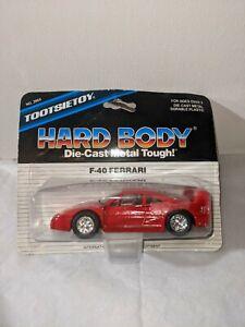 New Vintage Tootsietoy Diecast Hard Body Red F-40 Ferrari Sealed 1:43