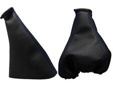 Para OPEL CORSA B 93-00 Fuelle Palanca de Cambio y Freno - Costura Azul Oscuro