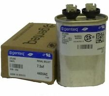 Genteq / GE 7.5 uf MFD x 440 VAC Oval Capacitor 27L695BX
