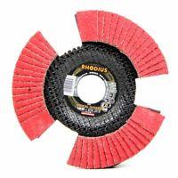 Rhodius VISION SPEED Fächerscheibe mit Durchblick INOX 125 x 22,23 - P40 Ø 125mm