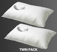**SPECIAL OFFER** 2X DUCK FEATHER HOTEL QUALITY PILLOWS EXTRA FILLED FREE POST