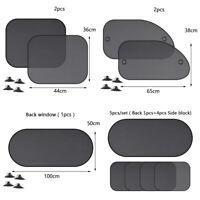 5pcs/set Car Window Sun Shades Cover Anti-UV Mesh Shade Curtain Protec TFSU