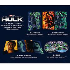 The Incredible Hulk 4K Ultra HD+Blu Ray Steelbook / WORLDWIDE SHIPPING
